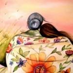 Reiki abbraccio anziana giovane